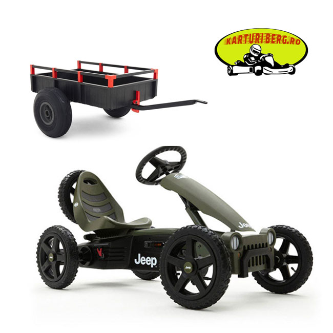 Kart BERG Jeep Adventure + Remorca XL +Cadou Tricou Splat Planet