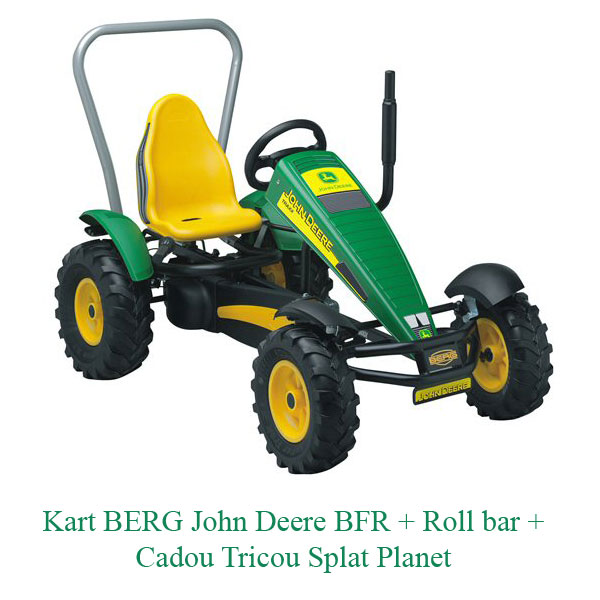 Kart BERG John Deere BFR + Roll bar + Cadou Tricou Splat Planet