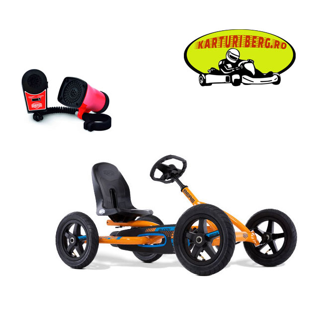 Kart Berg Buddy B Orange + Sirena + Cadou Tricou Splat Planet