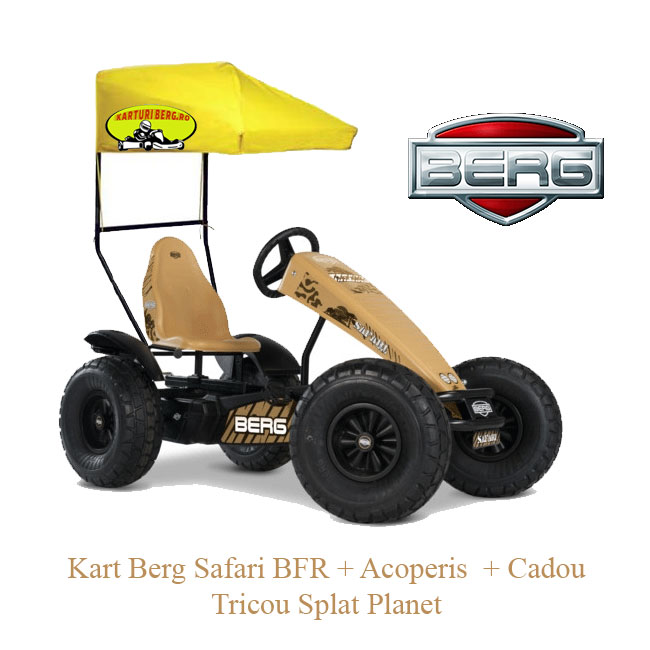Kart Berg Safari BFR + Acoperis  + Cadou Tricou Splat Planet
