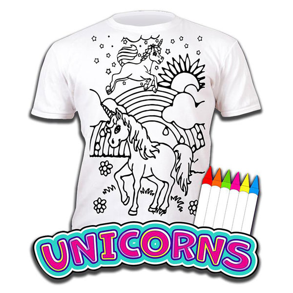Tricou Splat Planet Unicorns -  Coloreaza-Poarta-Spala-Repeta